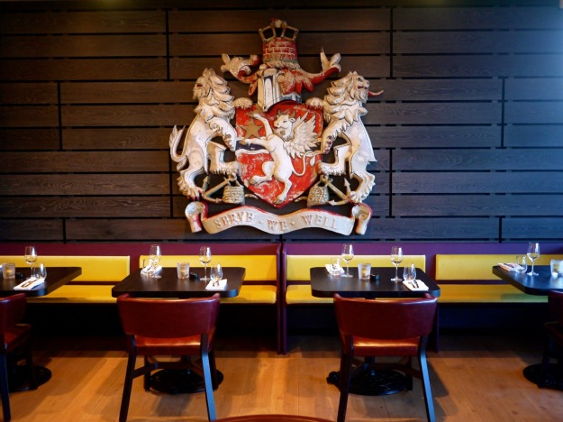 Sea Containers Dining Room Crest We Serve