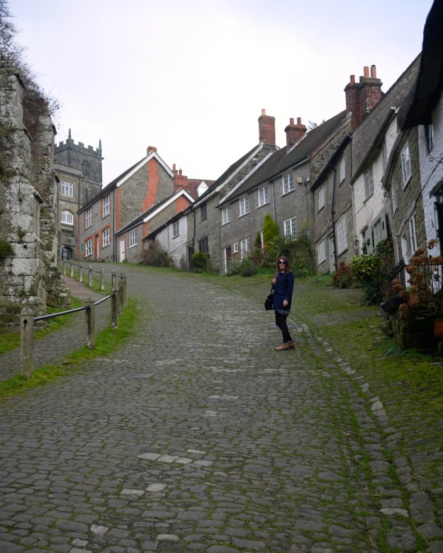 Shaftesbury Gold Hill Walking Up