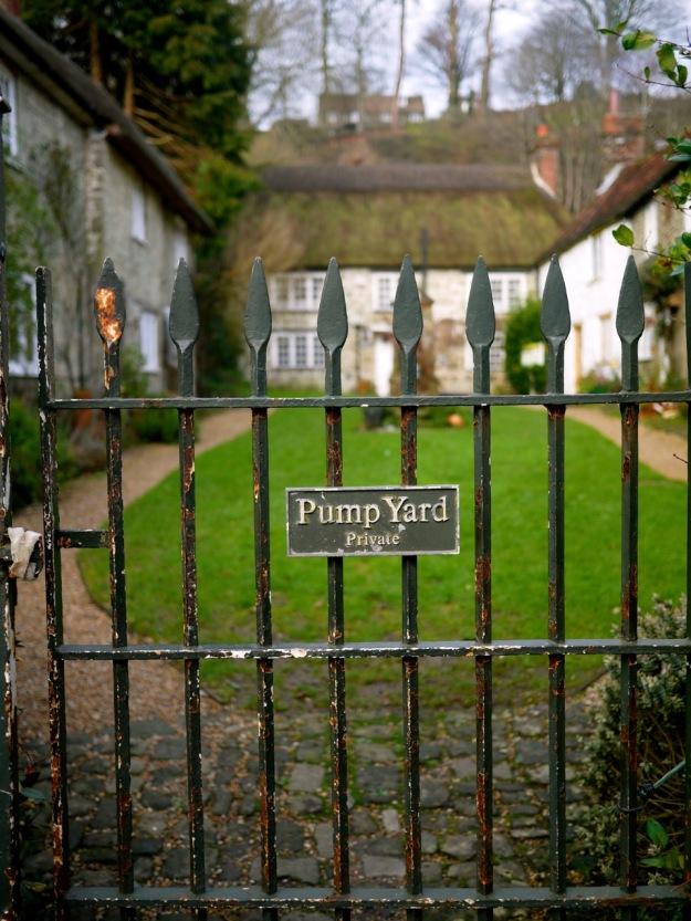Shaftesbury Pump Yard Gate