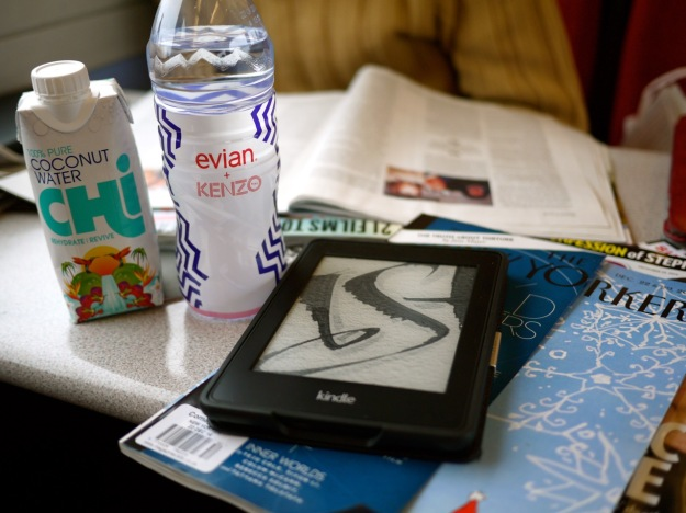 Train Journey Reading Drinks