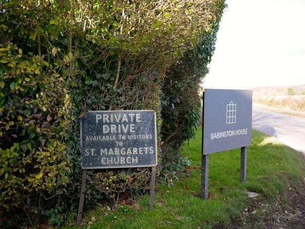 Babington House St Margarets Sign