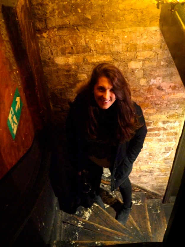 Upstairs at Ten Bells Staircase