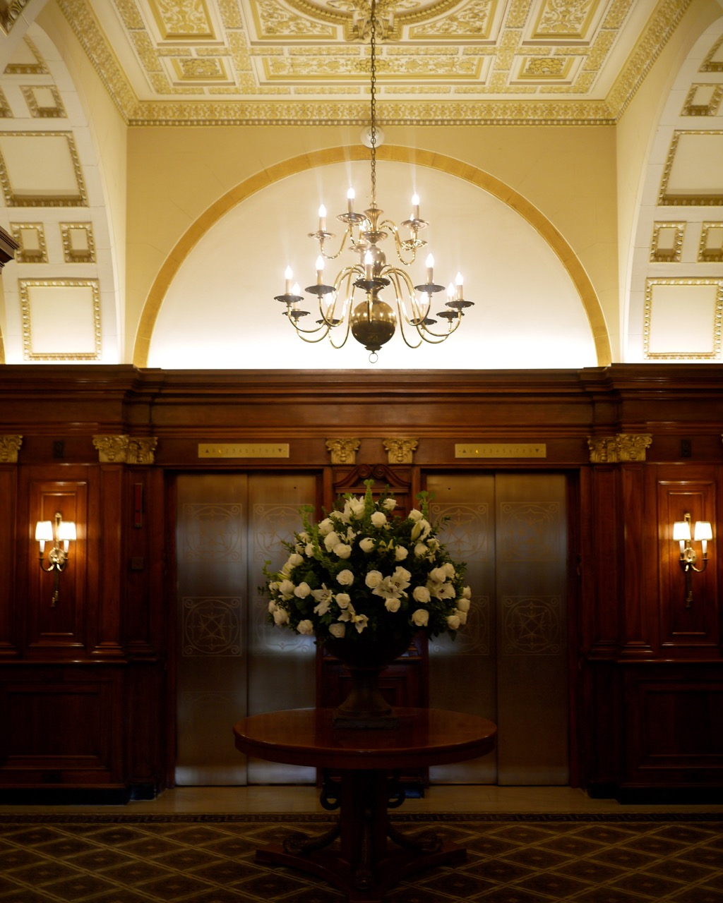 Hay Adams Lobby Lift Chandelier