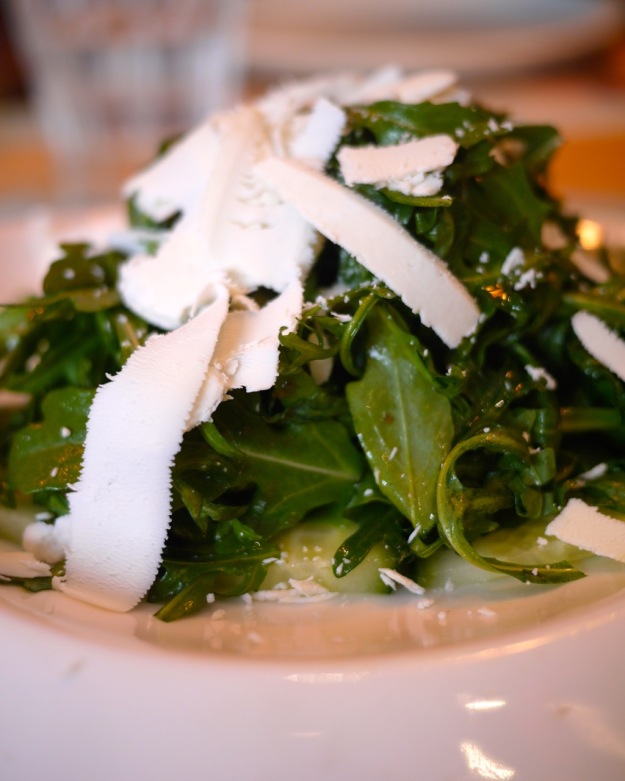 Cucumber, rocket and ricotta salad
