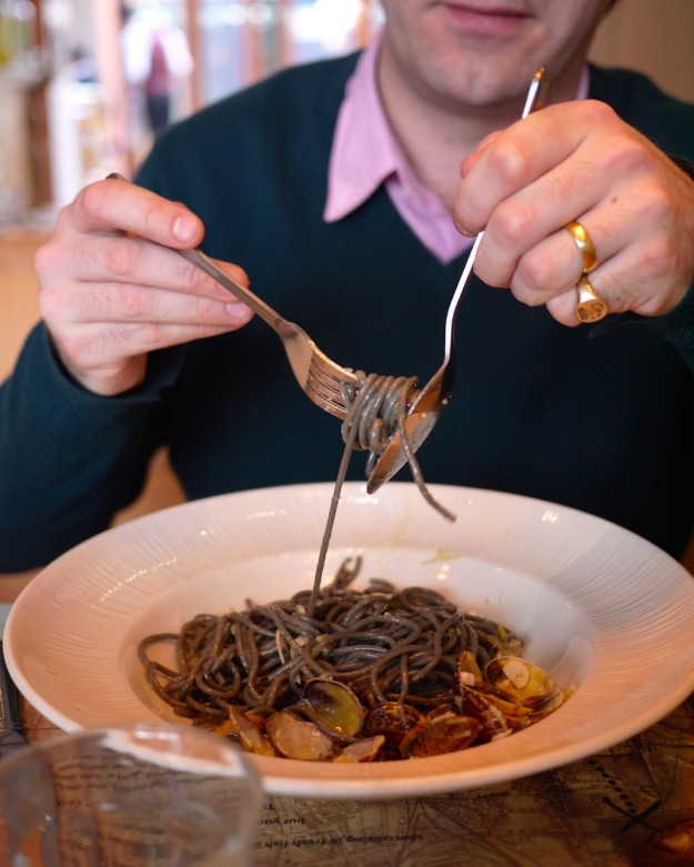 LCFM Squid Ink Clam Pasta