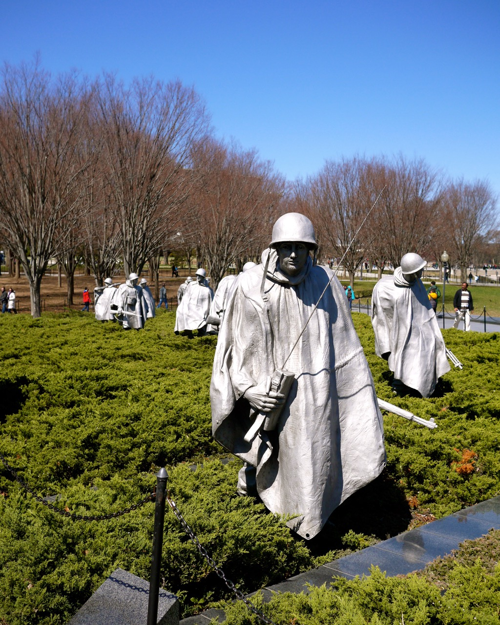 Washington DC Korean Memorial Statues
