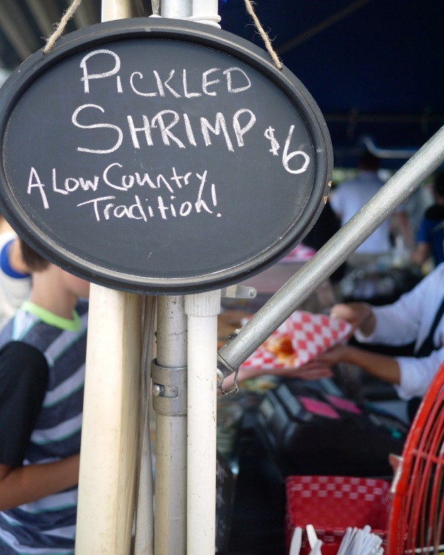 Blessing of the Fleet Festival Pickled Shrimp Sign