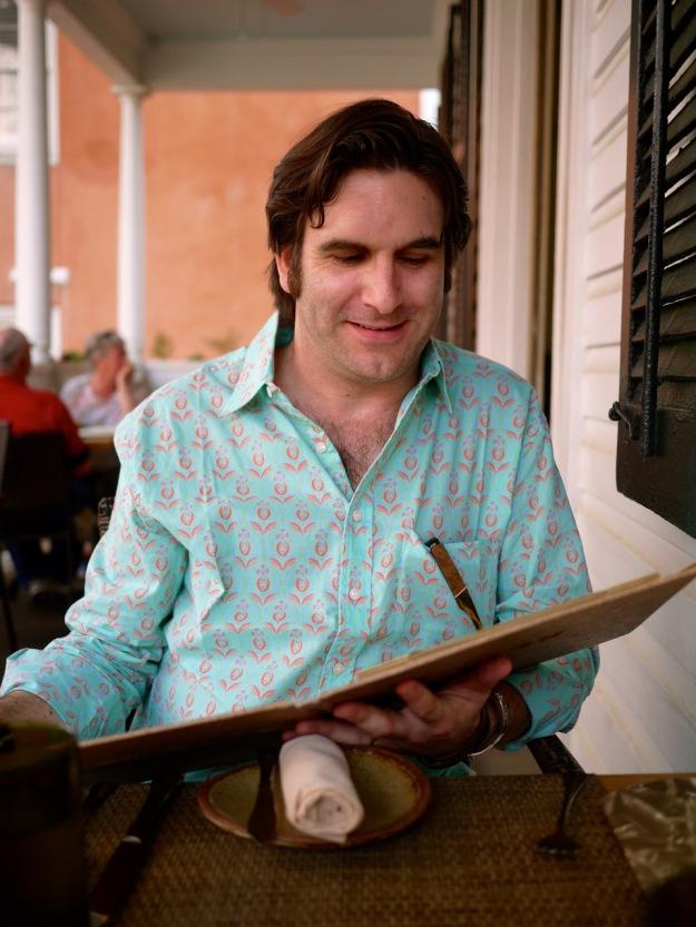 Charleston Husk Menu Frangipani Shirt