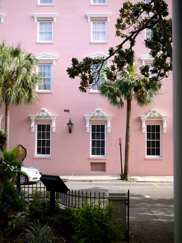 Charleston Husk Pink Building Across the Street