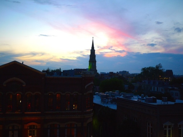 Charleston Vendue Rooftop Bar Nightscape City view