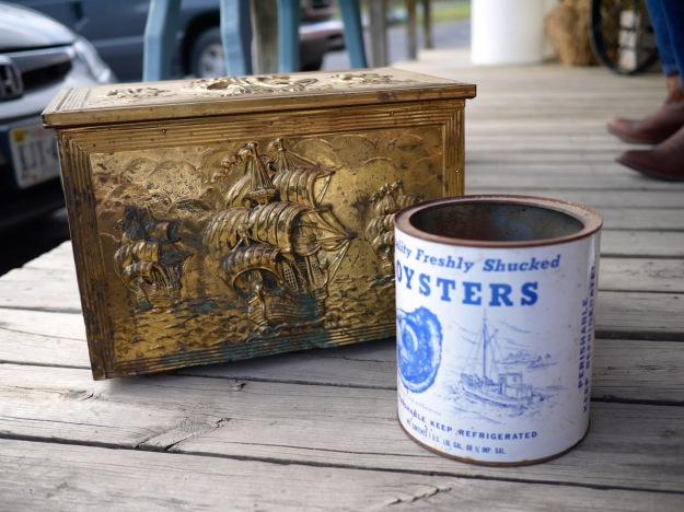 Dan's Antiques Brass Box Oyster Can