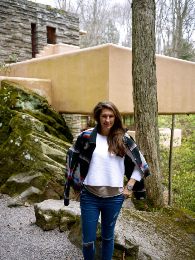Fallingwater Pose Outside