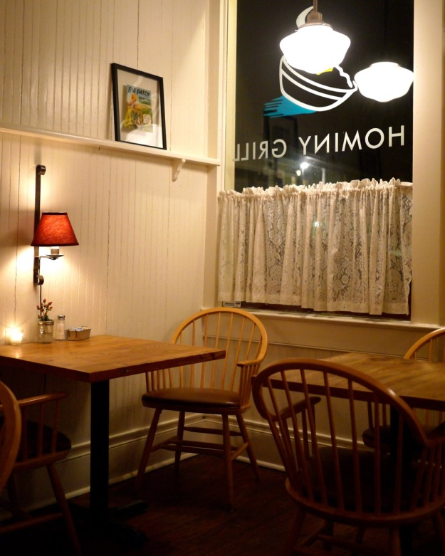 Hominy Grill Interior Dark Outside Tables