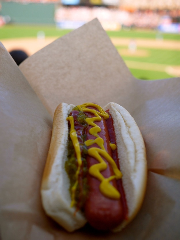Orioles Esskay Hotdog