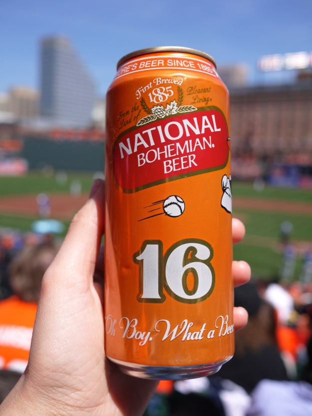 Orioles National Bohemian Beer Can