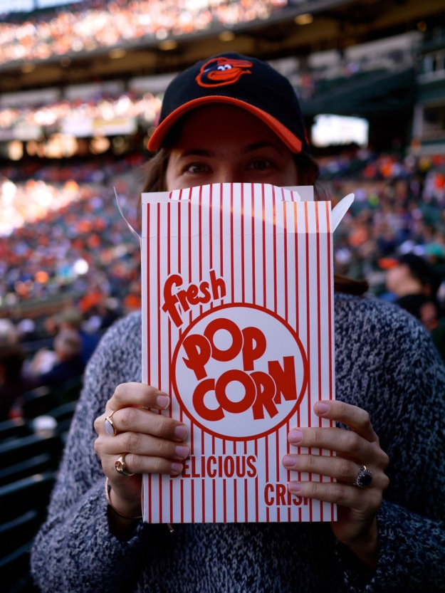 Orioles Vintage Paper Popcorn Box