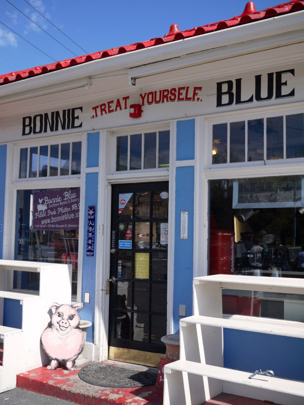 Winchester Virginia Bonnie Blue BBQ Entrance
