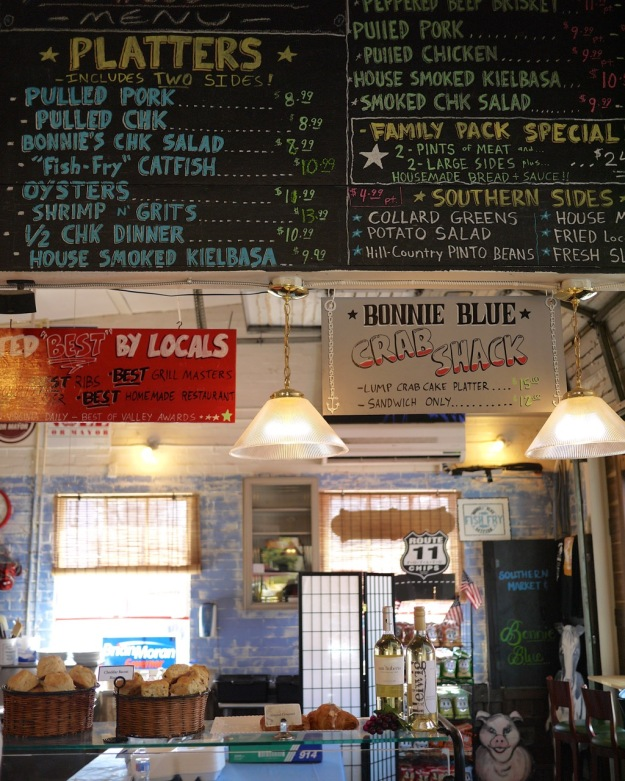 Winchester Virginia Bonnie Blue Menu
