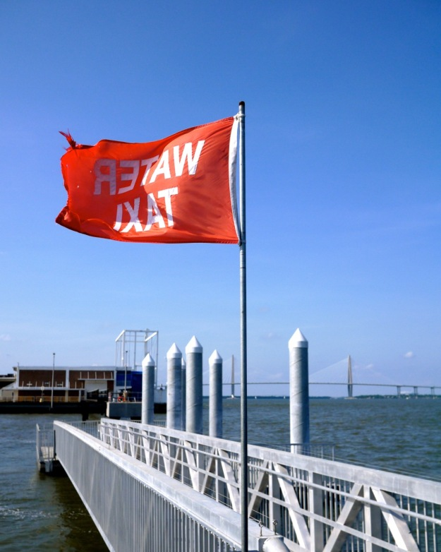 Charleston Harbor Water Taxi Pier Flag