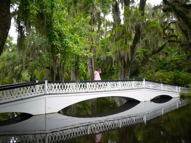 Magnolia Plantation Long White Bridge Standing