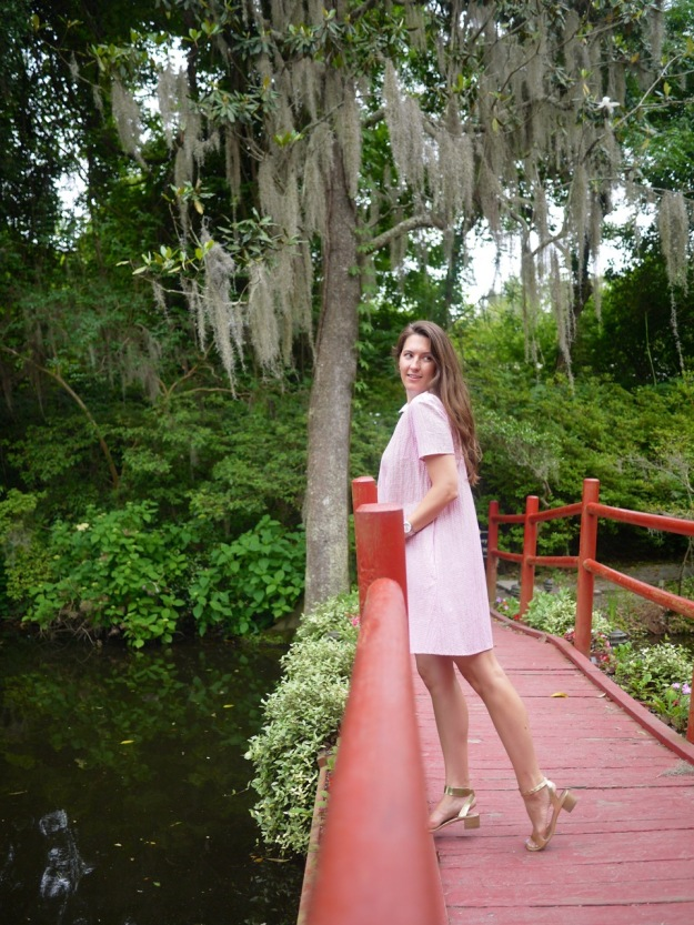 Magnolia Plantation Red Bridge Gold Sandals