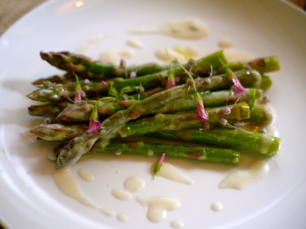 Asparagus, buttered popcorn, whey