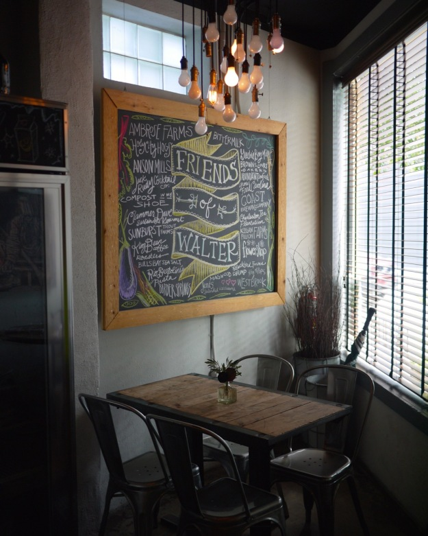 Two Boroughs Larder Charleston Inside Friends of Walter Sign