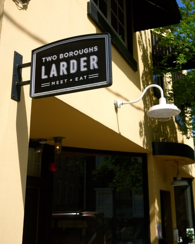 Two Boroughs Larder Charleston Outside Sign
