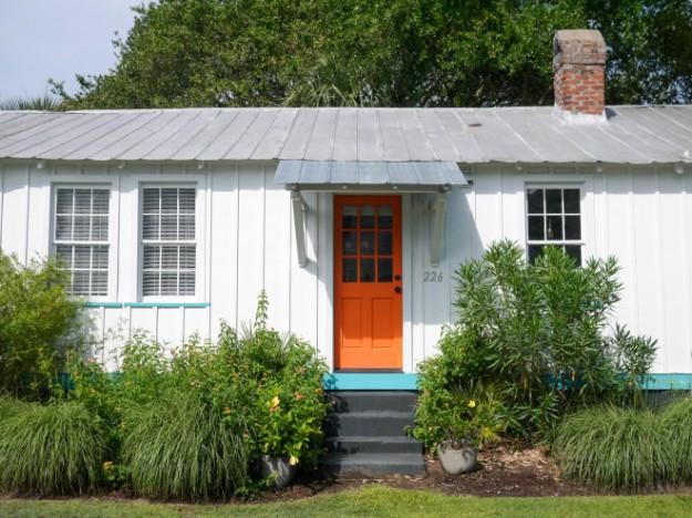 Station 19 Outside front door orange