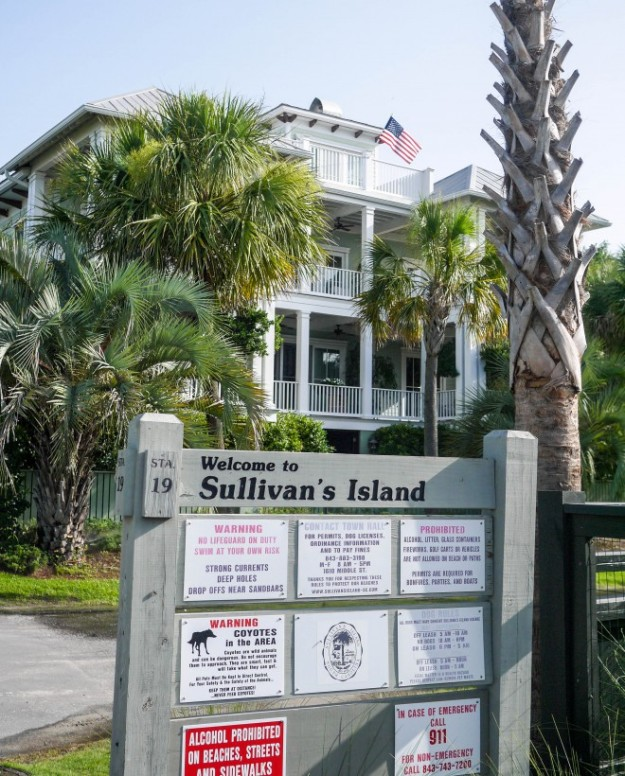 Sullivan's Island Beach Welcome Sign