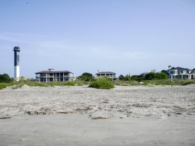 Sullivan's Island Boardwalk Beach Houses Lighthouse Landscape