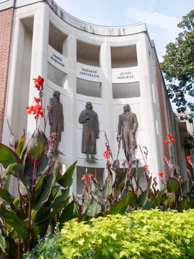 Charlottesville downtown founding fathers