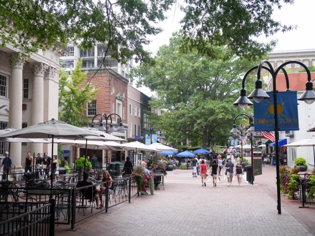 Charlottesville downtown pedestrian mall