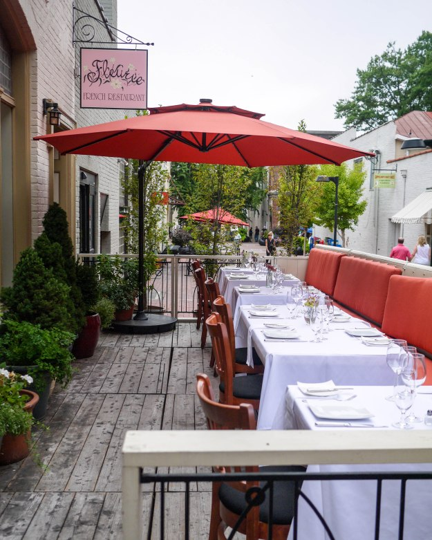 Fleurie Charlottesville patio terrace outdoor al fresco dining