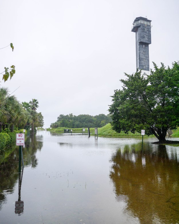 Hurricane Joaquin Sullivan's Island Ion Lighthouse Flooding