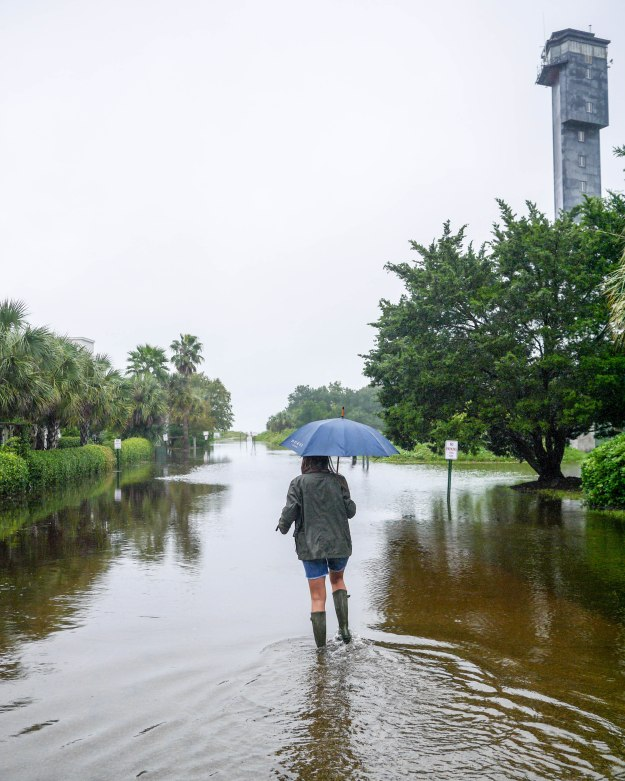 Hurricane Joaquin Sullivan's Island Lighthouse Flooding