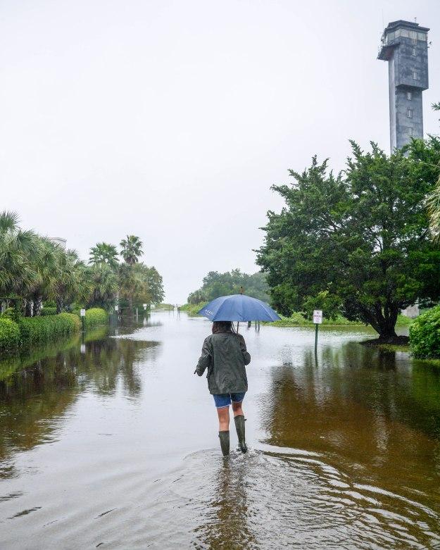 Hurricane Joaquin Sullivan's Island Lighthouse Flooding