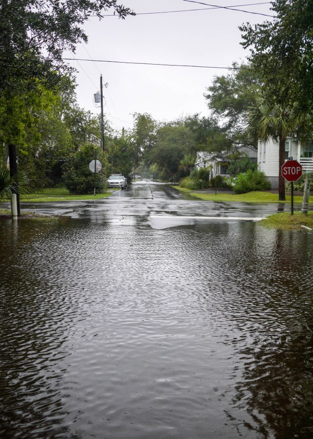 Hurricane Joaquin Sullivan's Island Station 19 Flooded Water Level