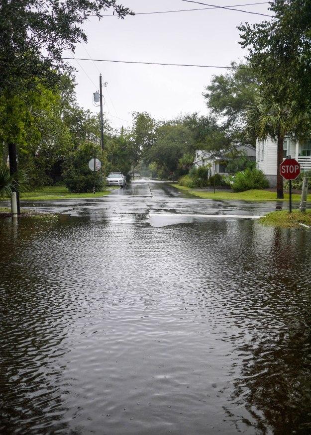 Hurricane Joaquin Sullivan's Island Station 19 Flooded Water Level