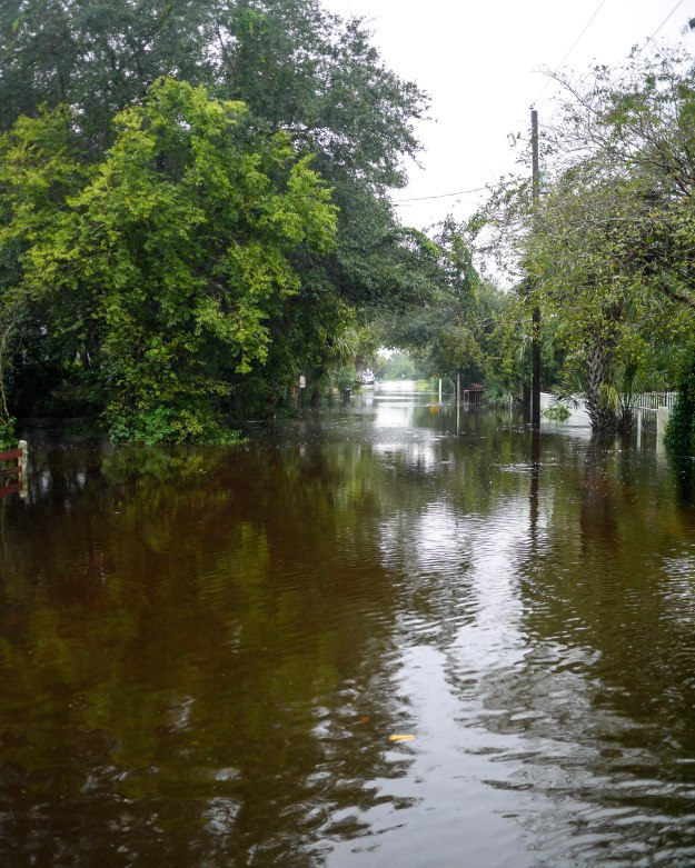 Hurricane Joaquin Sullivan's Island Station 19 Flooded Water