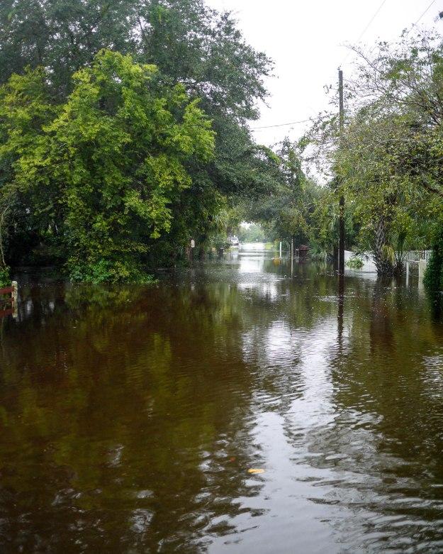 Hurricane Joaquin Sullivan's Island Station 19 Flooded Water