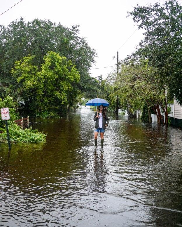 Hurricane Joaquin Sullivan's Island Station 19 Walking Streets