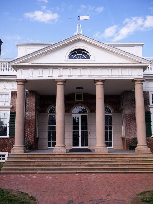 Monticello front entrance portico