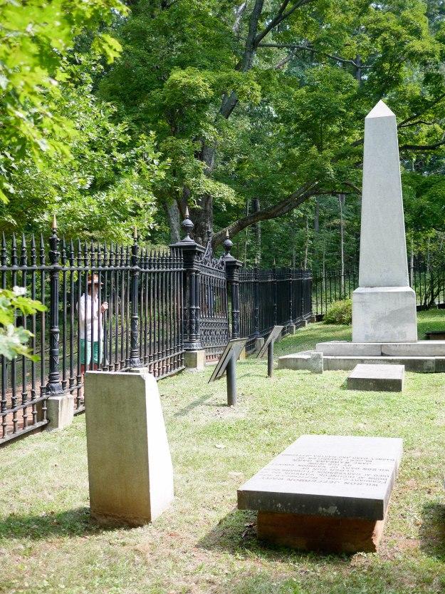 Monticello gravestone gates