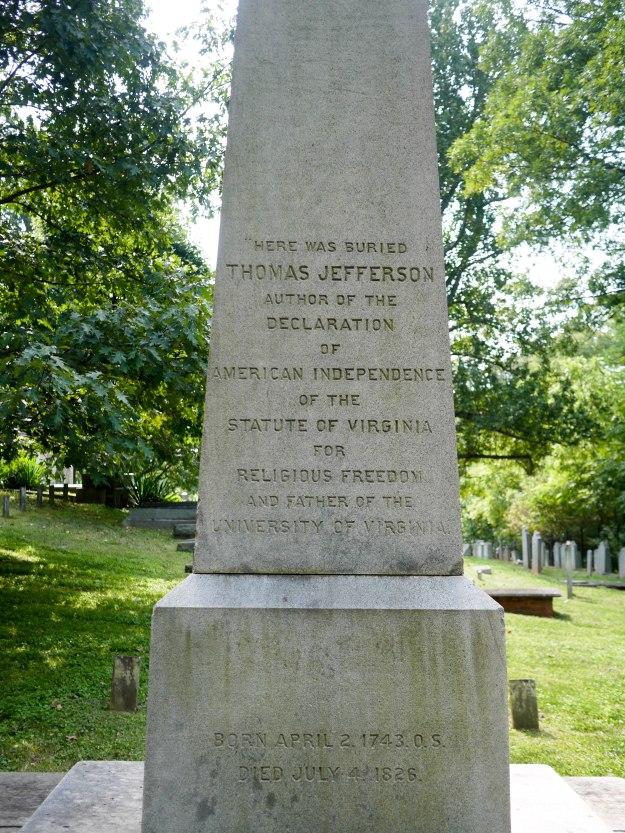 Monticello gravestone