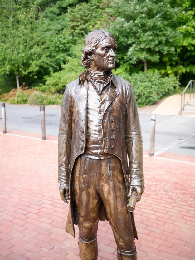 Thomas Jefferson bronze statue Monticello