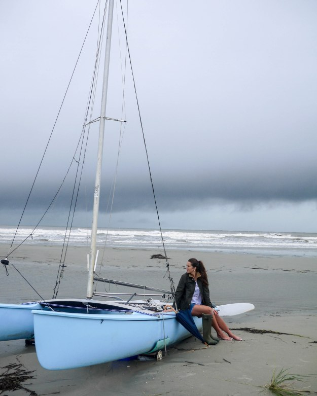 Hurricane Joaquin Sullivan's Island Flooding Beach Sailboat Water