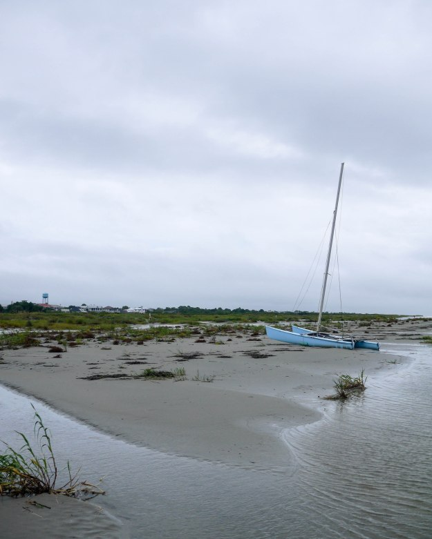 Hurricane Joaquin Sullivan's Island Flooding Beach Sailboat