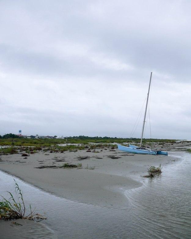 Hurricane Joaquin Sullivan's Island Flooding Beach Sailboat
