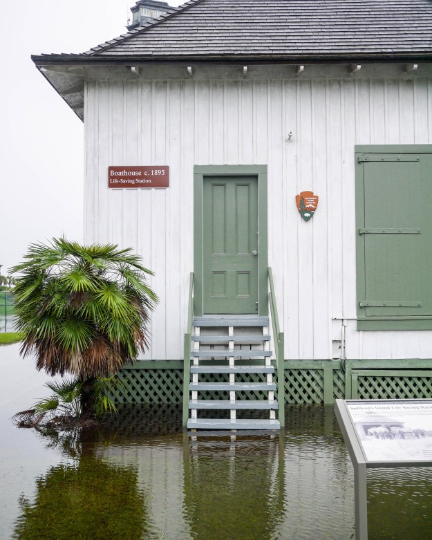 Hurricane Joaquin Sullivan's Island Flooding Boathouse Water